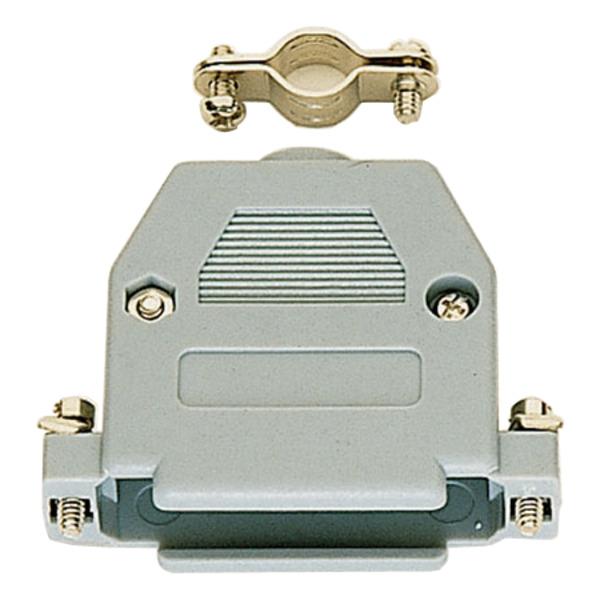 SUB-D-Kunststoffgehäuse, 9-polig, grau