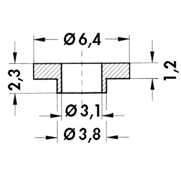 Fischer Elektronik Isolierbuchsen IB 10 für TO 3 P