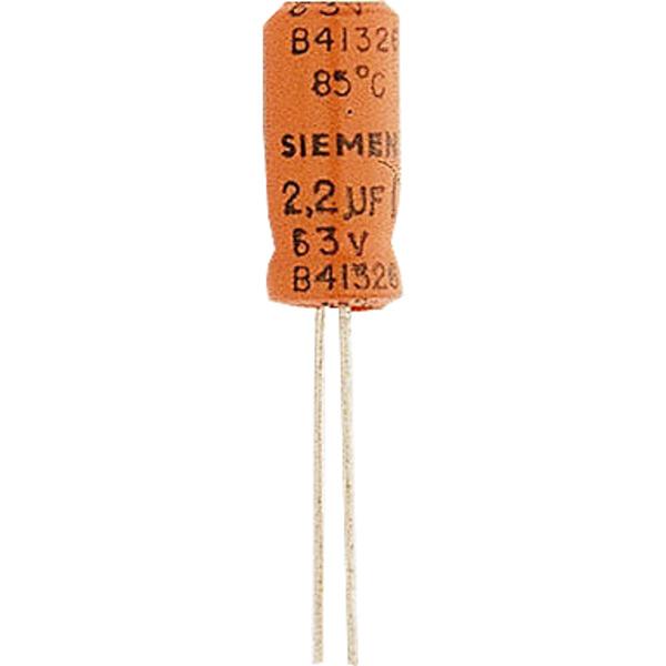 Elektrolytkondensator 10 μF, 63 V, RM 2,5 mm, radial