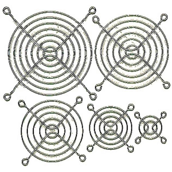 Fingerschutzgitter für Axial-Lüfter 80 x 80 mm