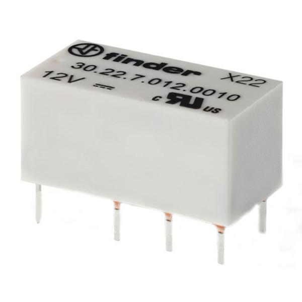 Miniatur-Relais, 6 V/105-Ohm-Spule, 2 x um
