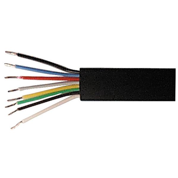 Telefon-/ISDN-Kabel, oval, 8-adrig, schwarz, 25-m-Ring