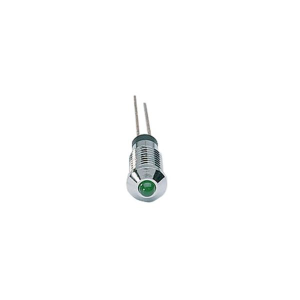 Signal-Construct LED SMQS062 mit Fassung, 3 mm, grün, 20 mcd