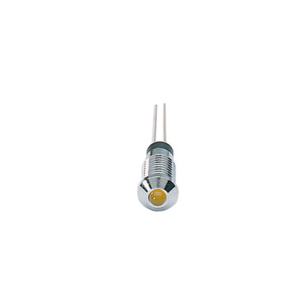 Signal-Construct LED SMQS061 mit Fassung, 3 mm, gelb, 15 mcd