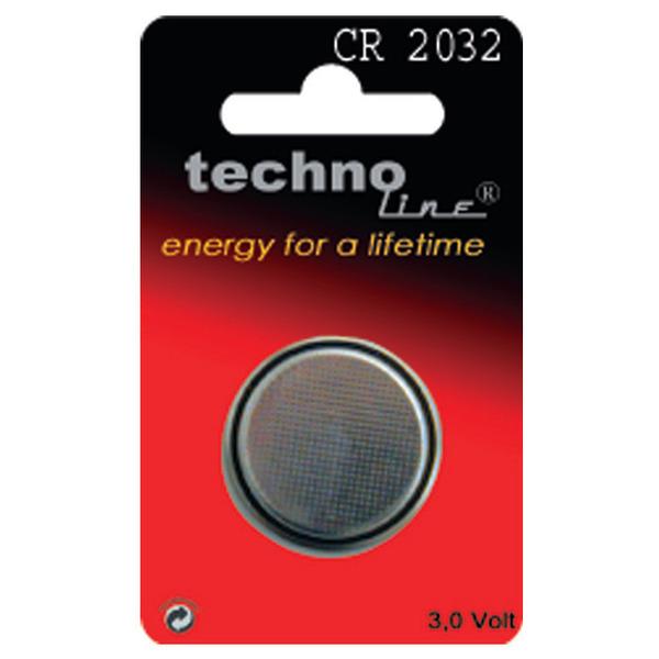 technoline Lithium-Knopfzelle CR 2032
