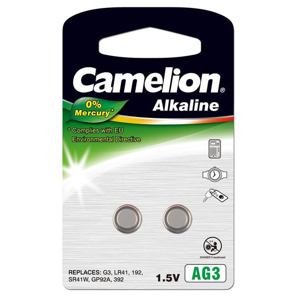 Camelion Alkaline-Knopfzelle, Typ AG-3, LR41 (2er-Pack)
