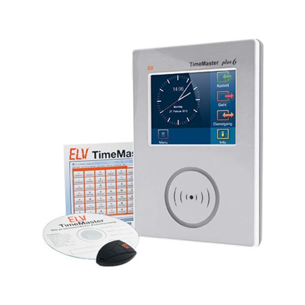 """ELV TimeMaster Zeiterfassung Komplettsystem """"Plus 6"""", weiß"""