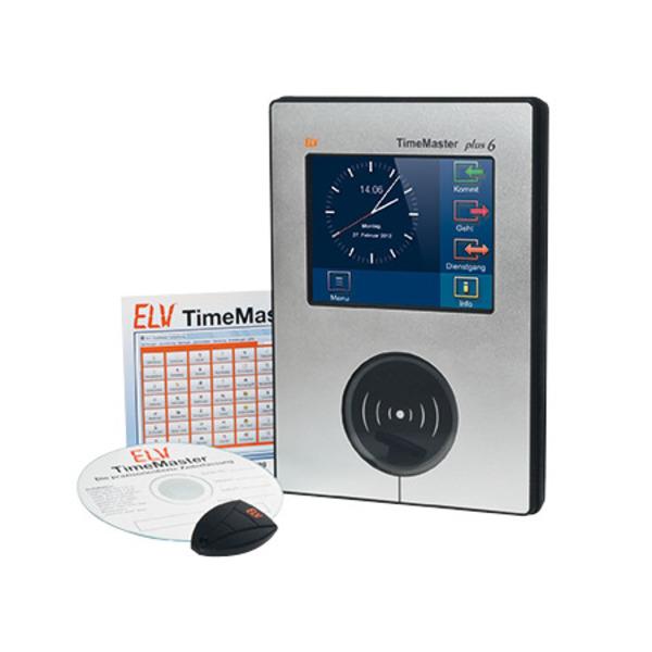 """ELV TimeMaster Zeiterfassung Komplettsystem """"Plus 6"""", schwarz"""