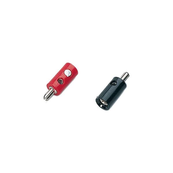 Miniaturstecker, Schwarz, 2,6 mm