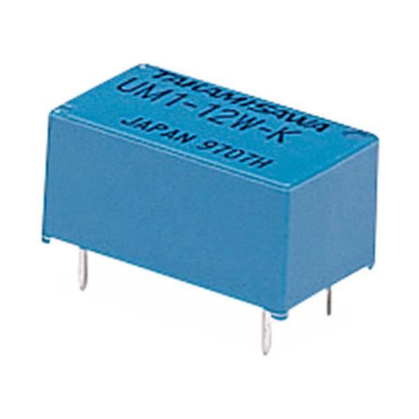 Miniatur-Relais, 12 V/720-Ohm-Spule, <br>1 x ein, 1 x aus, UM1-12 W-K