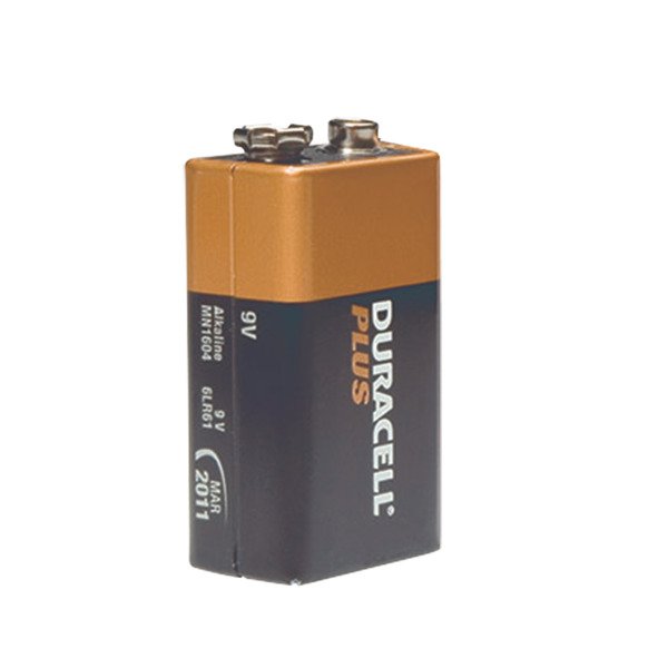 Duracell Plus Alkaline Batterie 9-V-Block, 1er Pack