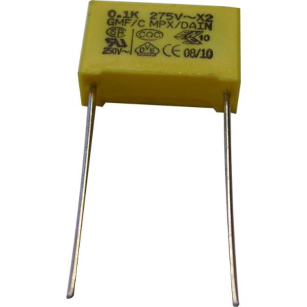 MKT-Folienkondensator 100 nF, 275 V, RM 15 mm, radial