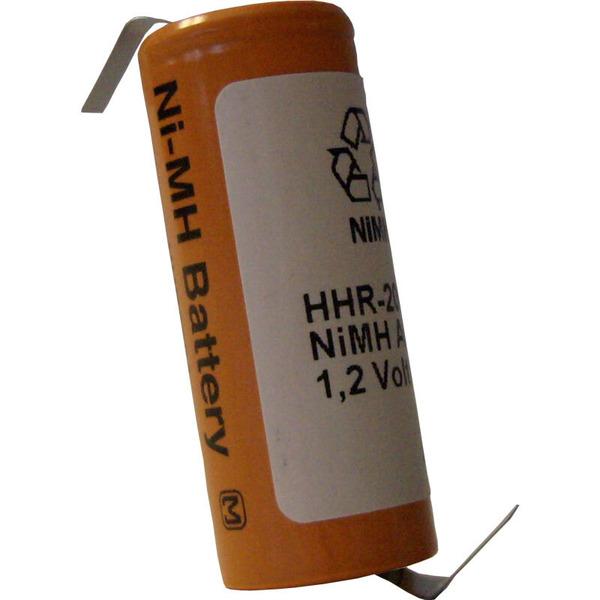Panasonic NiMH-Zelle mit Lötfahne HHR-200AB01-1Z, 2000 mAh