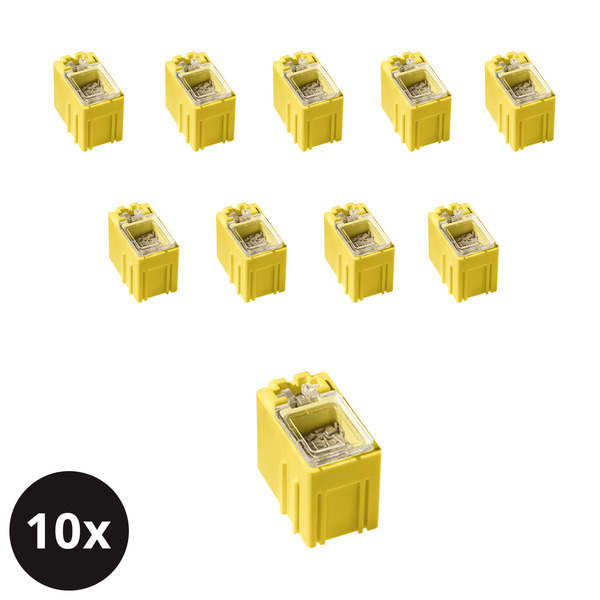 10er-Set ELV SMD-Sortierbox, Gelb, 23 x 15,5 x 27 mm