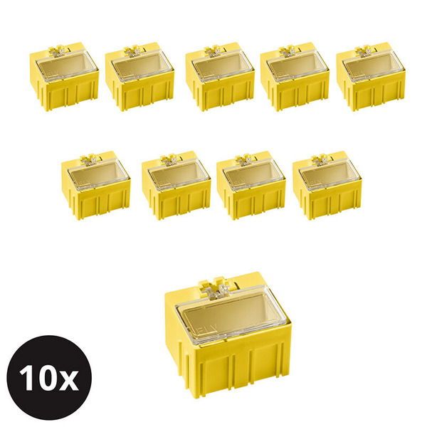 10er-Set ELV SMD-Sortierbox, Gelb, 23 x 31 x 27 mm