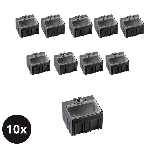 10er-Set ELV SMD-Sortierbox, Antistatik, 23 x 31 x 27 mm