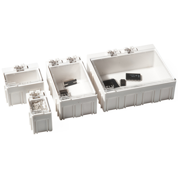 10er-Set ELV SMD-Sortierbox, Schwarz, Antistatik, 23 x 31 x 54 mm