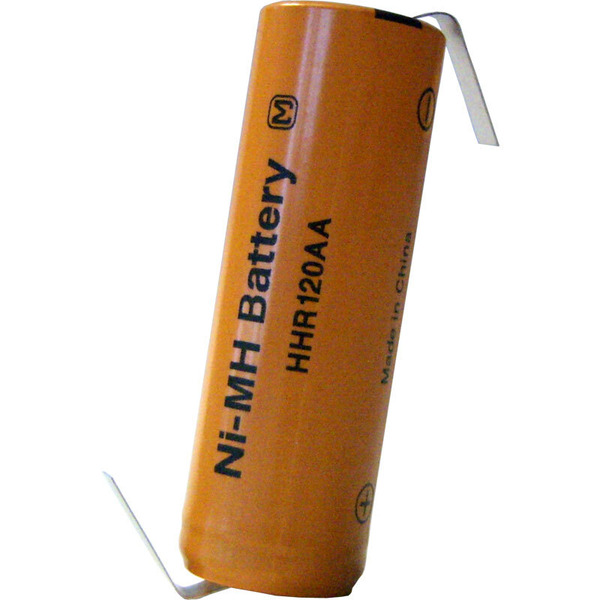Panasonic NiMH-Zelle mit Lötfahne HHR-120AAB-1Z, 1200 mAh