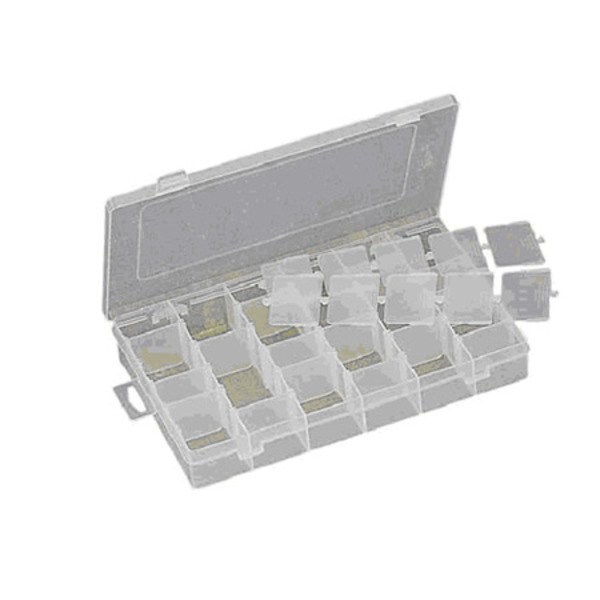 SMD-Sortierbox, 275 x 42,5 x 177 mm, flexible Fachteilung