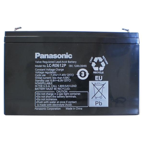 Panasonic Blei-AGM-Akku LC-R0612PG, 6V, 12 Ah