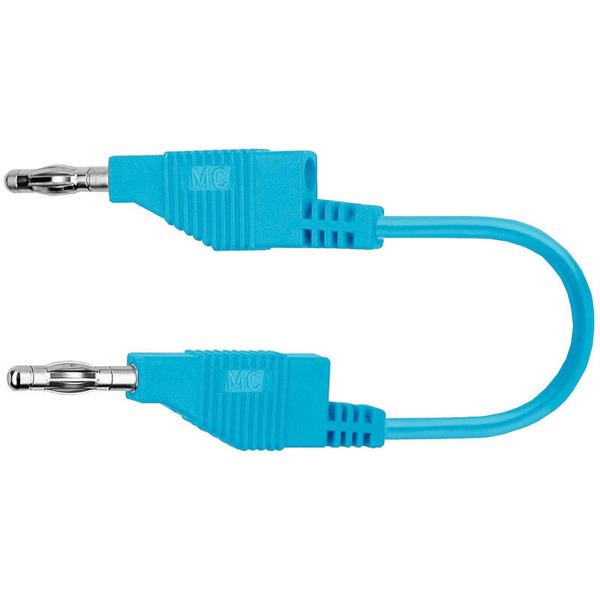 Silikon-Verbindungsleitungen 4 mm, 15A, 0,5m, blau