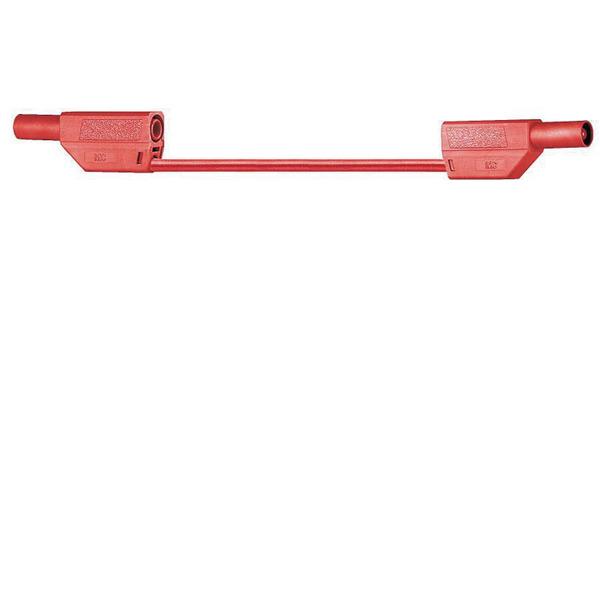 Sicherheitsmessleitungen in Silikon (SLK410-E/SIL) 4mm, 19A, 1m, rot