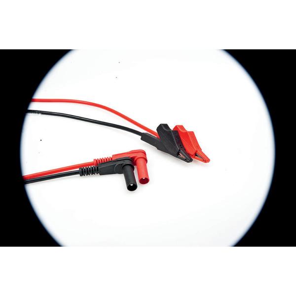 PVC-Messleitungen mit Krokodilklemme, rot/schwarz