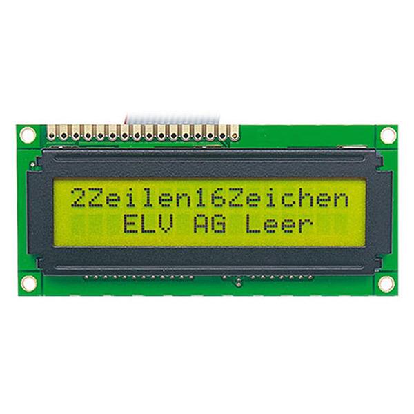 STN-LCD-Anzeigemodul, 2 x 16 Zeichen
