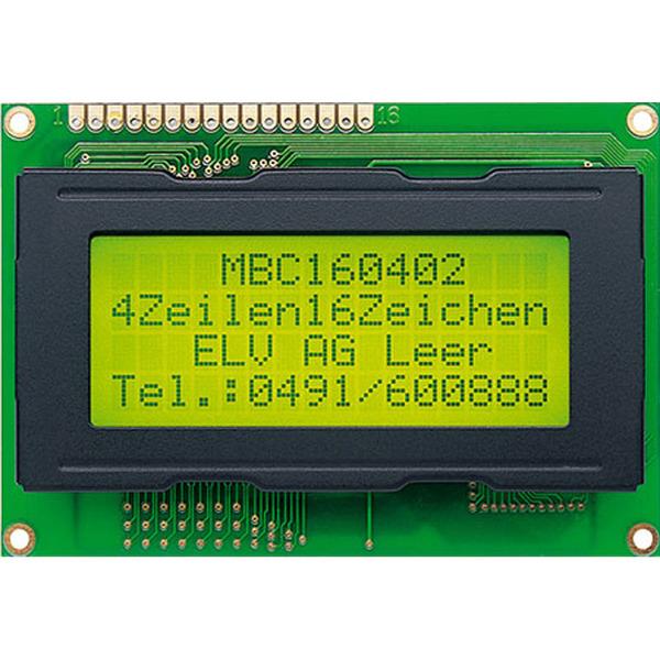 STN-LCD-Anzeigemodul, 4 x 16 Zeichen