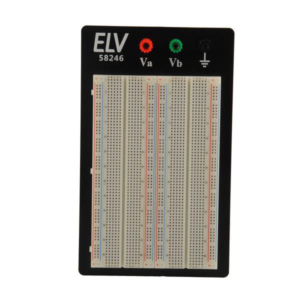ELV Steckplatine/Breadboard 104 J, 1660 Kontakte, mit Drahtbrücken-Set