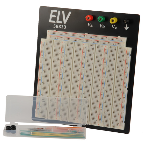 ELV Steckplatine 108 J, 3220 Kontakte, inkl. 140-teiligem Drahtbrücken-Set