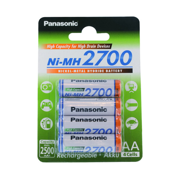 Panasonic NiMH-Akku Mignon AA, 2700 mAh, 4er-Blister
