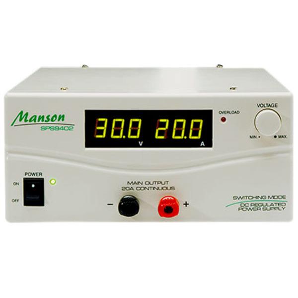 Manson Schaltnetzteil SPS 9402, 600 VA, 3–30 V/13,8 V, 20 A