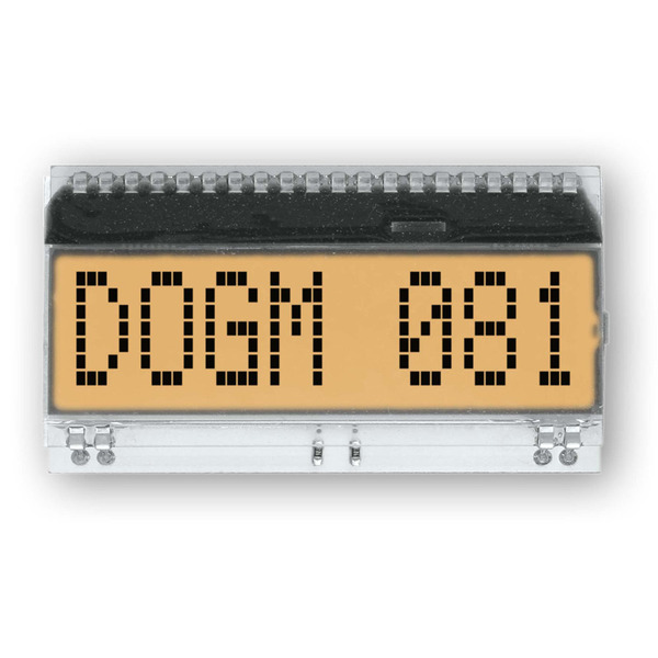 Electronic Assembly LCD-Punktmatrixdisplay EA DOGM081W-A 11.97 mm 1x8