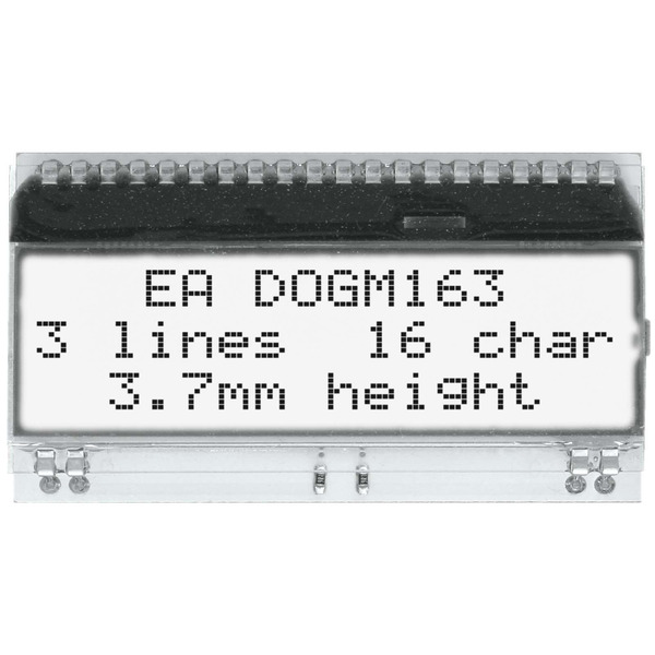 Electronic Assembly LCD-Punktmatrixdisplay EA DOGM163W-A 3.65 mm 3x16