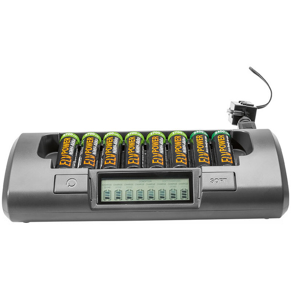 ELV Mehrfachladegerät MH-C800S 8-fach mit Auffrisch-Funktion