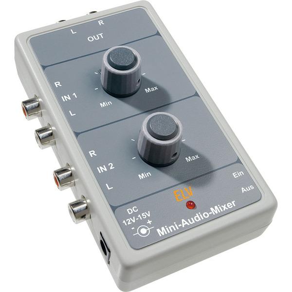 ELV Komplettbausatz Mini-Audio-Stereo-Mixer MAM 1