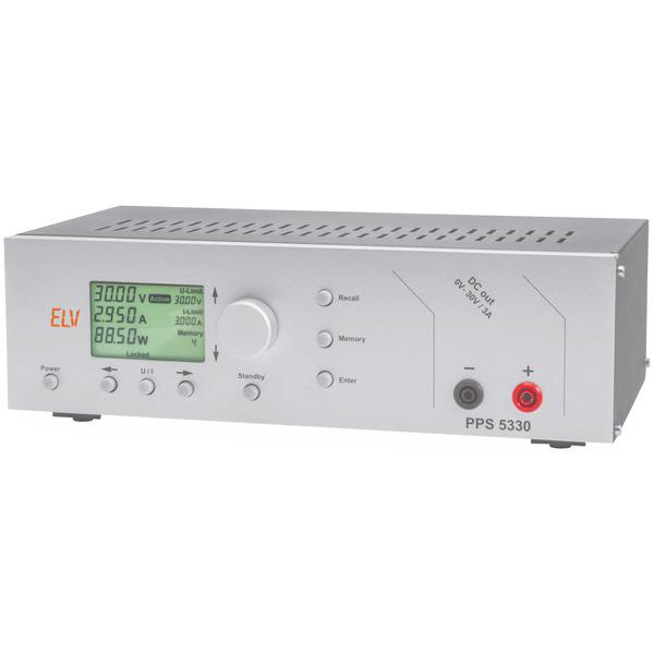 ELV Prozessor-gesteuertes-Labornetzteil PPS 5330, linear geregelt