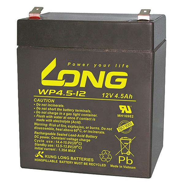 Kung Long VdS-Blei-AGM-Akku WP4.5-12, 12V, 4,5 Ah