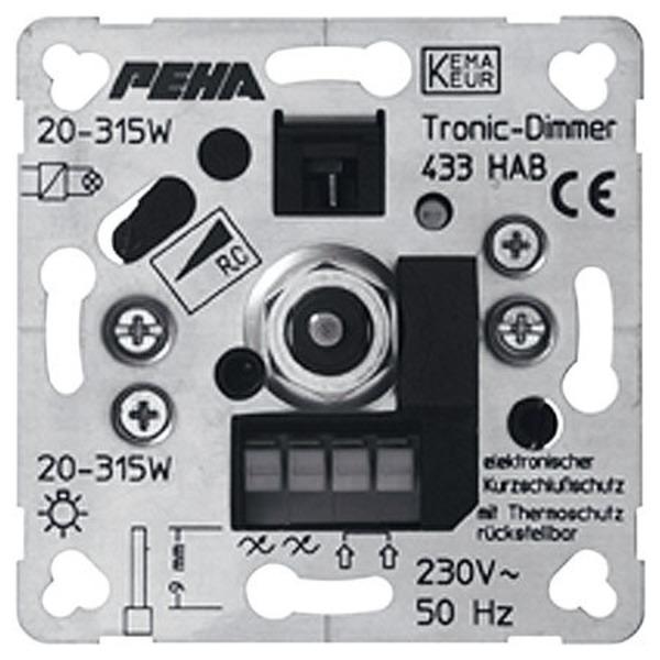 Peha TRONIC 433 HAB UP-Phasenabschnitt-Drehdimmer 20-315 W