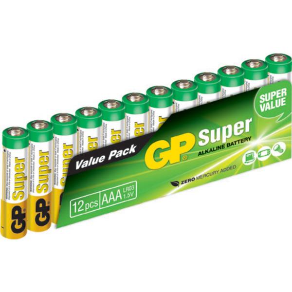 GP Super-Alkaline-Batterie Micro AAA, 12er Pack