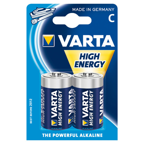 Varta High Energy Alkaline Batterie Baby C, 2er Pack