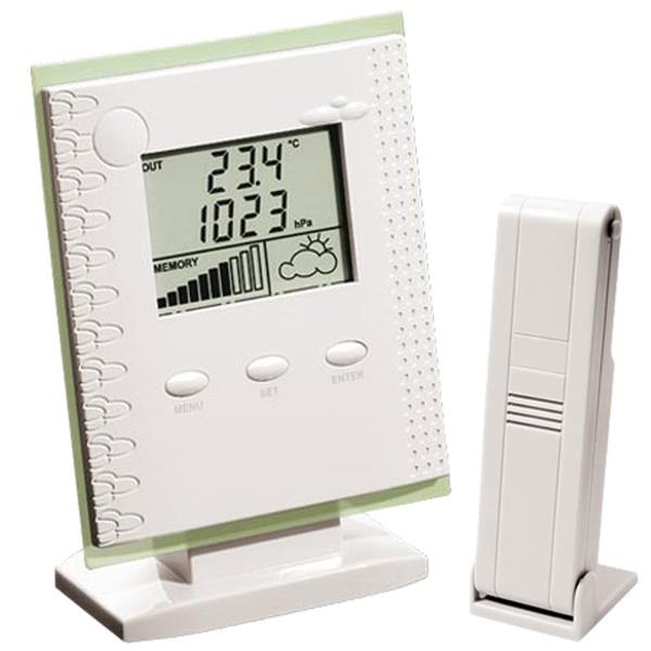 ELV WS 300 PC Funk-Wetterstation, Weiß inkl. Software Weather Professional und Temperatur-/Feuchtese