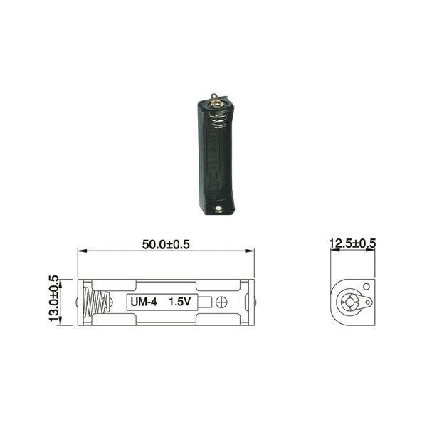 Batteriehalter für 1 x Micro-Batterie mit Lötanschluss