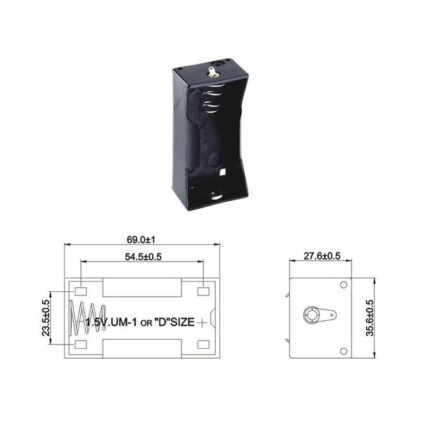 Batteriehalter für 1 x Mono Batterie mit Lötanschluss