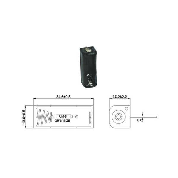 Batteriehalter für 1 x Lady Batterie mit Lötanschluss