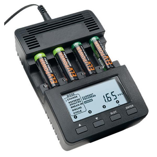 ELV Prozessor-Ladegerät MH-C 9000 inkl 4x ELV Mignon Akku 2700mAh