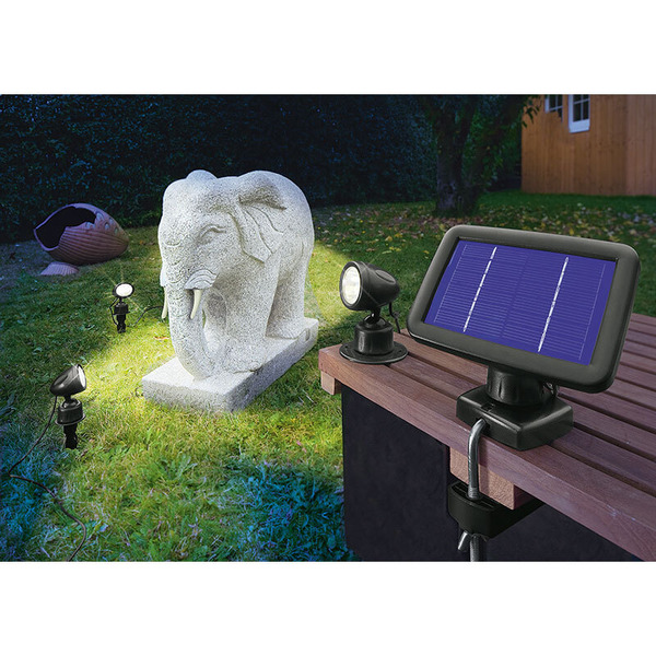 esotec Solarspot Trio Solar-LED-Beleuchtungs-Set, IP44