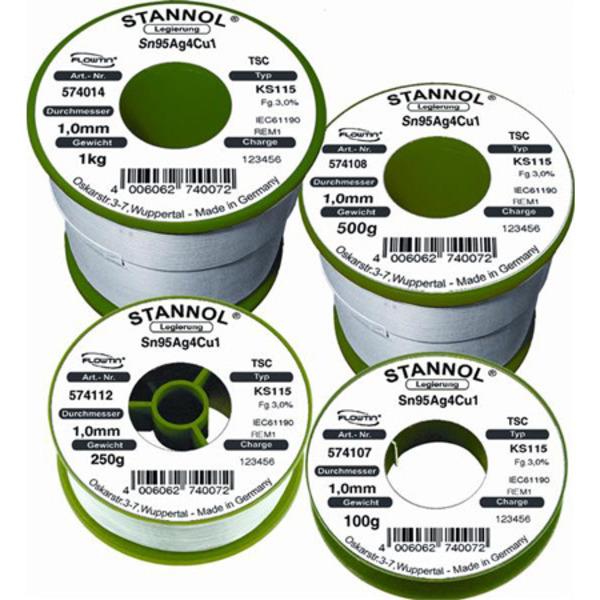 Stannol Flowtin Lötzinn KS 115 Flowtin TC 0,8 mm