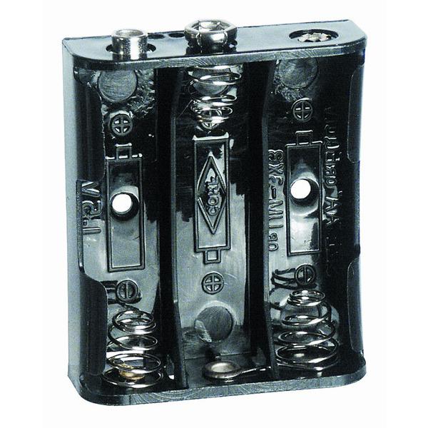 Batteriehalter für 3 x Mignon mit Druckknopf-Anschluss